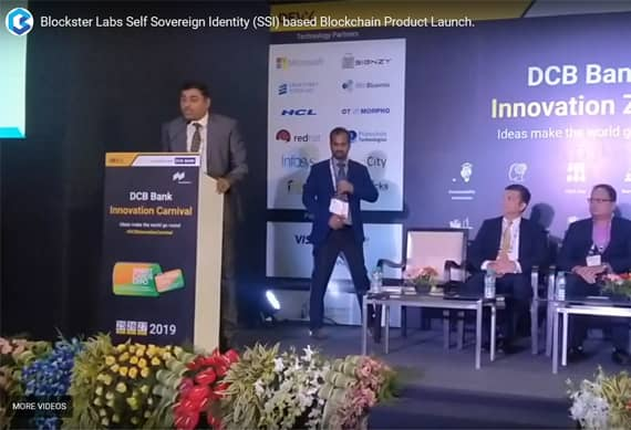 Blockster Labs Self Sovereign Identity (SSI) based Blockchain Product Launch