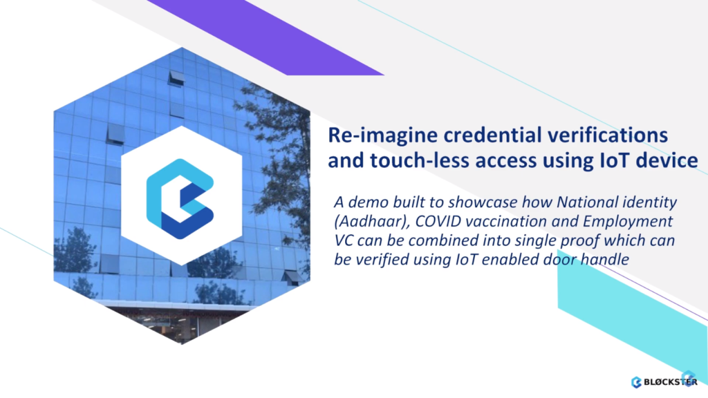 Demo: Re-imagine credentials verification integrated with IoT
